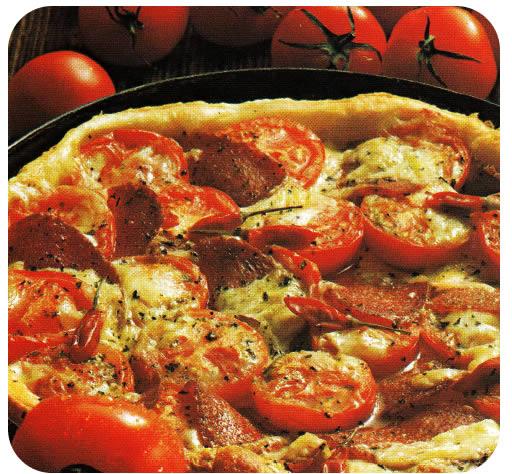 Ljuta pizza sa salamom