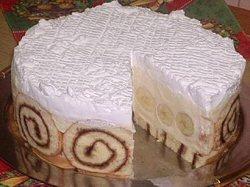 Torta od rolata s bananama